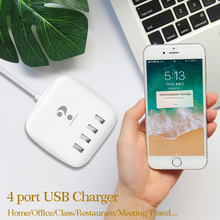 New Smart 4 USB port Universal Phone Charger Fast Charging Power Adapter Wall Desktop Charger for Xiaomi Huawei Samsung s10 ipad стоимость