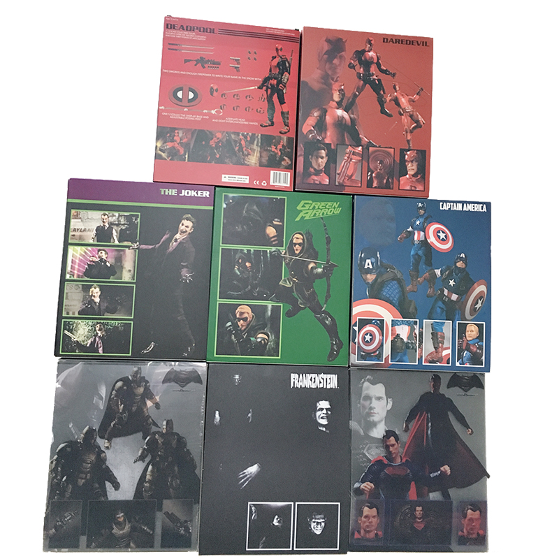 Mezco Marvel Super Hero Deadpool X-Men Batman Green Arrow Captain America Frankenstein Superman Joker One:12 Action Figure Toy image