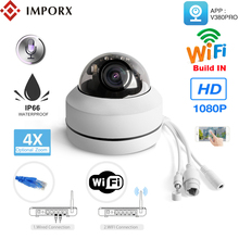 IMPORX 2MP 4X Optical Zoom HD 1080P Wireless WIFI Mini PTZ IP Dome Camera Two Way Audio H.265 P2P Onvif Outdoor Security