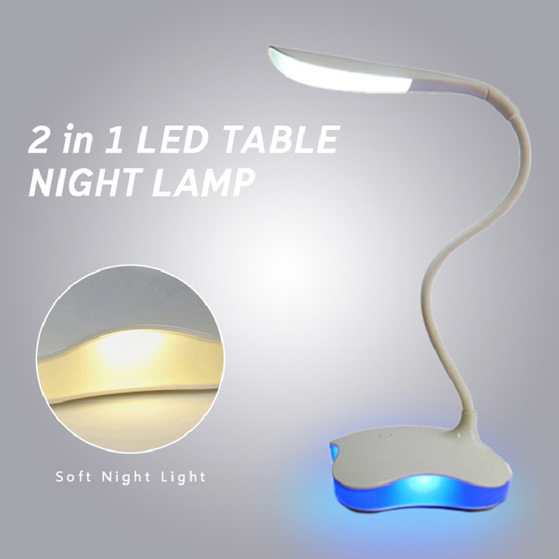 USB LED Reading Light Adjustable Dimmable 3 Modes LED Table Lamp Clip Holder Student Study Reading Travel Room Night Light|Book Lights| |  - title=