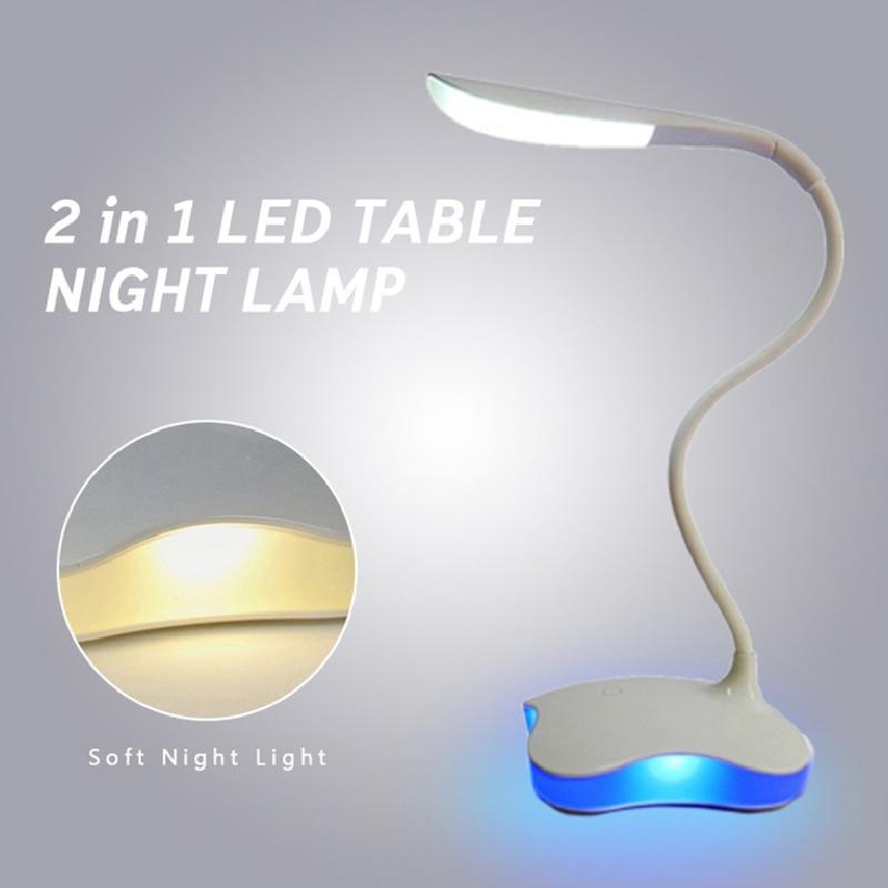 USB LED Reading Light Adjustable Dimmable 3 Modes LED Table Lamp Clip Holder Student Study Reading Travel Room Night Light