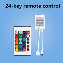 24-клавишный RGB контроллер Инфракрасный контроллер led 12-24V контроллер полосы лампы