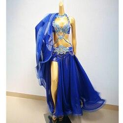 Heißer Verkauf Professionelle Bauchtanz Kostüm Set für Frauen Leistung Outfits Bollywood Showgirl Tänzerin Bauchtanz Kostüm tücher