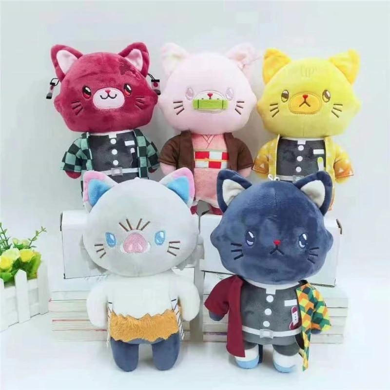 Demon Slayer Kimetsu no Yaiba Cat Tanjirou Plush Doll Mascot Toy Gift