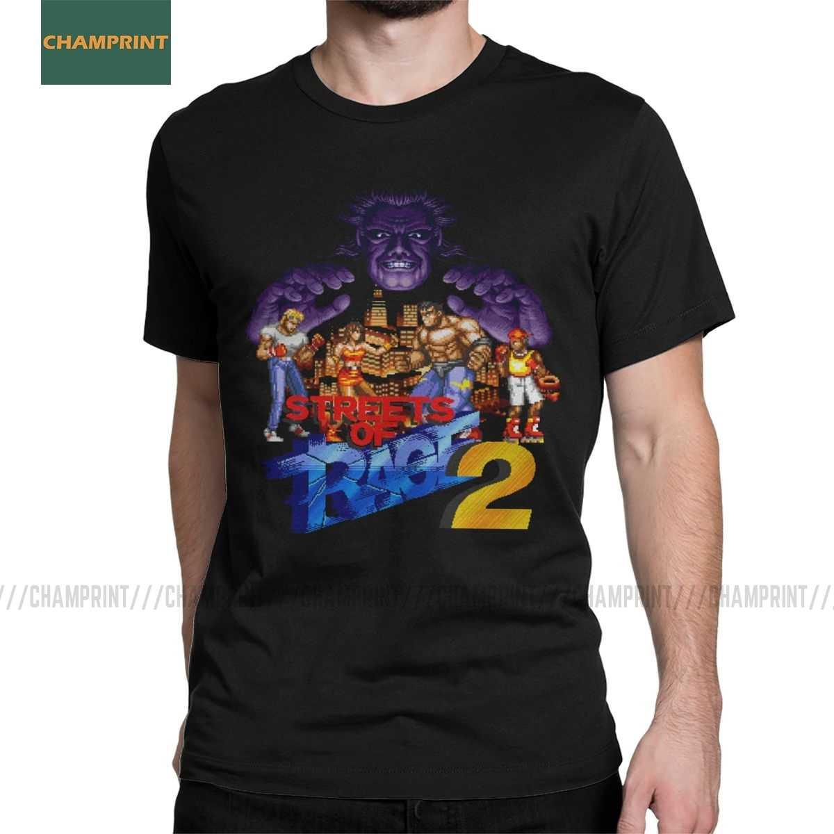 Vintage sokak Rage T-Shirt erkekler ekip boyun saf pamuk T gömlek Retro aks altın balta Blaze oyun kısa kollu tee eşsİz Tops