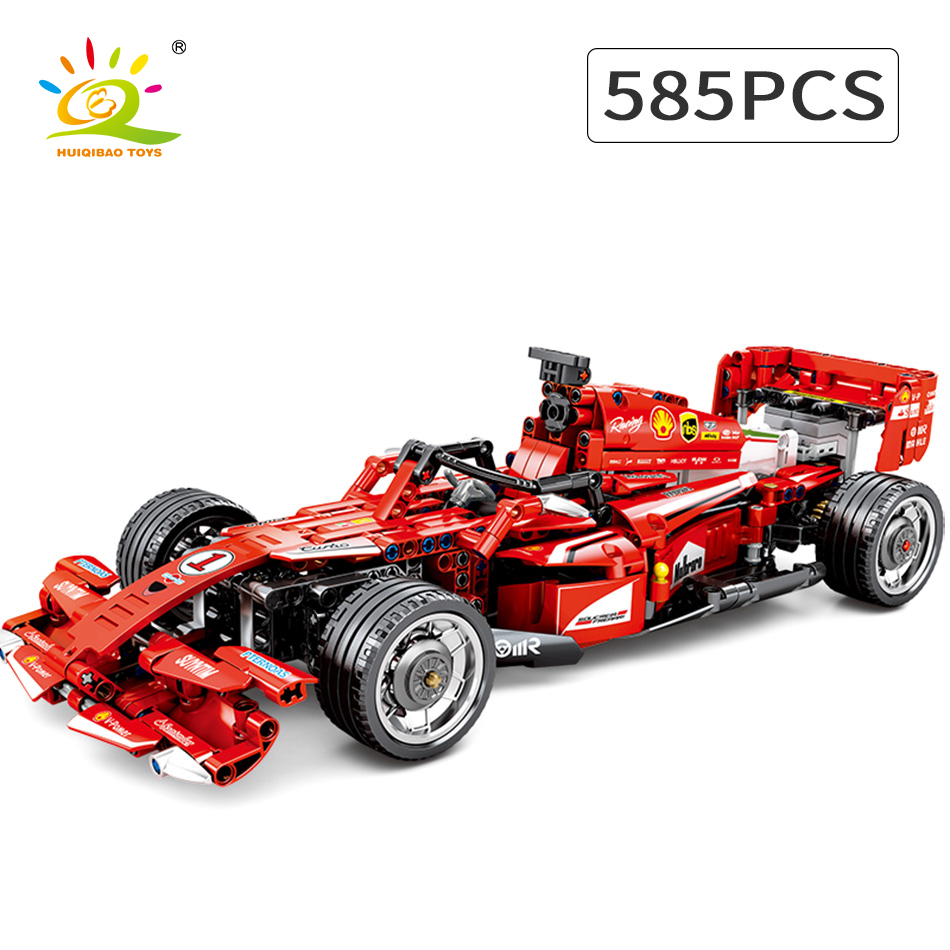 585pcs F1 Formula One Racing Car Building Blocks Speed Champion Super Technique Toy Sports Car Gifts for Boys image