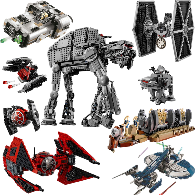 New Legoinglys Star Wars Tie Fighter Heavy Assault Walker Model Building Blocks Brick Toys For Children 75234 75240 75189 75210