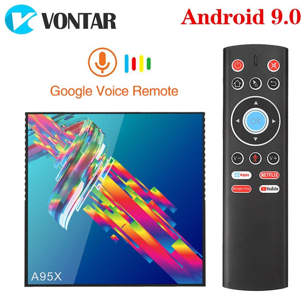 VONTAR A95X R3 4GB 64GB Smart TV BOX Android 9.0 Rockchip RK3318 1080P 4K 60fps BT Wifi Netflix Youtube  2GB 16GB Set Top Box