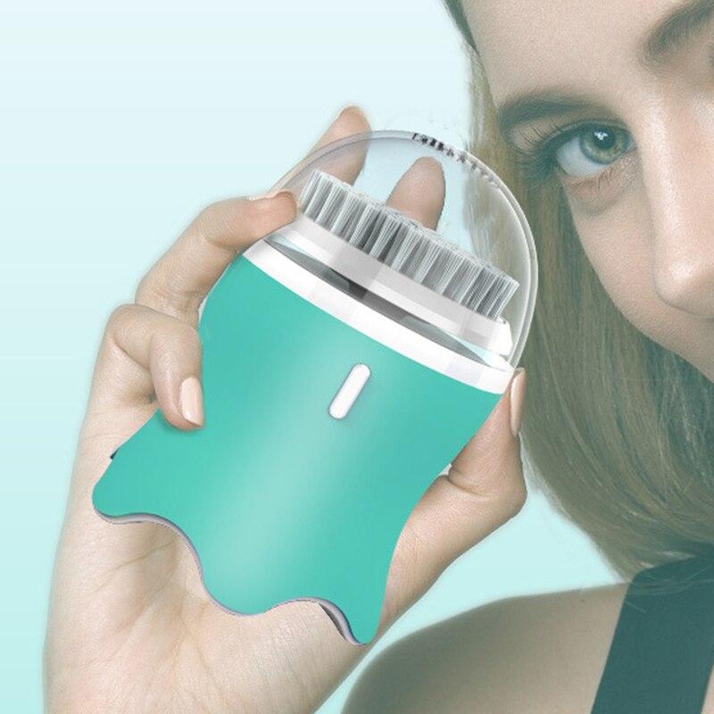 Cepillo de limpieza Facial para exfoliación, cepillo de limpieza Facial electrónico con 3 modos, temporizador inteligente y cerdas suaves, Waterproo - 5