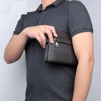 Men Business Day Clutch Evenlop Wallet Bags Real Leather Man Casual Fashion Travel Day Clutches Bag
