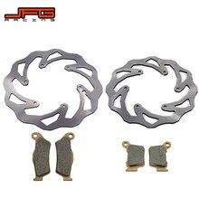 Motocicleta 220mm 260mm discos de freio dianteiro traseiro rotores pastilhas freio para ktm exc sx sxf xcf xcw xcfw 125 150 250 300 350 450 530
