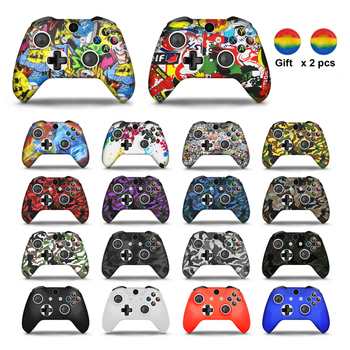 For Xbox One X S Controller Gamepad Camo Silicone Cover Rubber Skin Grip Case Protective For Xbox One Slim Joystick