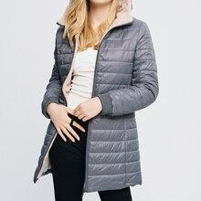 Sfit Женский Повседневный зимний теплый вельветовый джемпер с капюшоном из овечьей шерсти, куртка с капюшоном, верхняя одежда, пальто, легкий теплый длинный пуховик