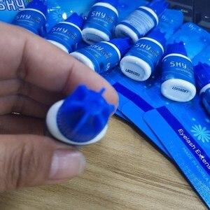 Image 4 - Korea Fastest Original Sky S+ Glue for eyelash extensions dry time 1 2 second Blue Cap Black glue 5ml Eyelash Makeup Tools