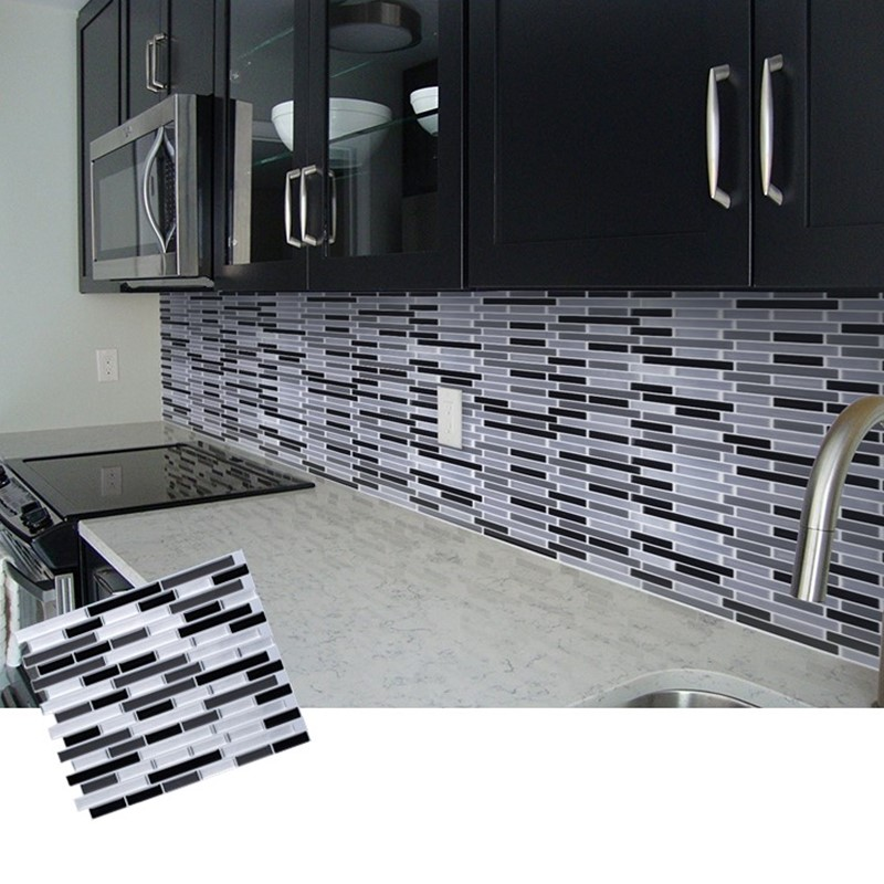 Mosaic Self Adhesive Tile Backsplash 3D WallPaper Sticker Vinyl Bathroom Kitchen Home Decor DIY