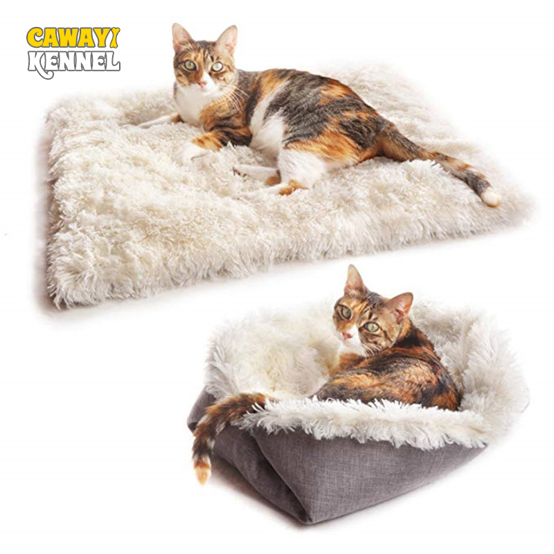 CAWAYI KENNEL Dog Pet Plush House Products Dual-use Bed For Dogs Cats Small Animals Hondenmand Panier Chien Legowisko Dla Psa