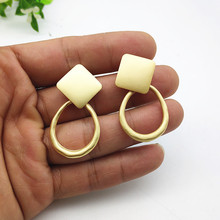 Fashion Pendant Earrings Simple Jewelry Geometric Irregular Dumb Gold Womens Drop 2019