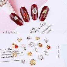 100pcs/lot Nail Rhinestones Flatback Cute Animals Snowflakes Multi-designs Gems Jewellery Charms JC631-648