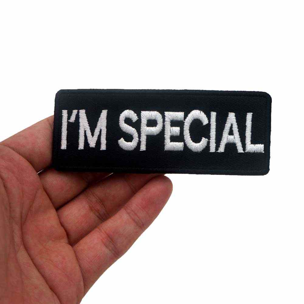 I AM SPECIAL iron on backing punk skull embroidered rider biker motorcycle patches for back vest