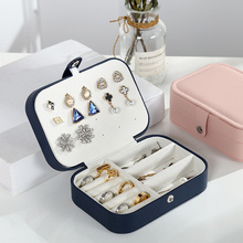 Solid Portable Storage Organizer Earring Boxes Retro Packaging Jewellery Storage Display Case for Travel Fashion Jewelry Box New