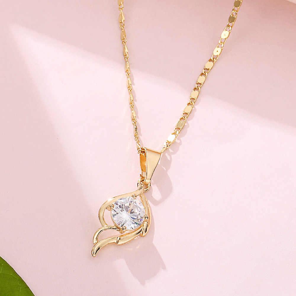 Viennois золотого цвета ожерелье с подвеской для женщин, стразы, геометрические витые ожерелья, вечерние ювелирные изделия 2019