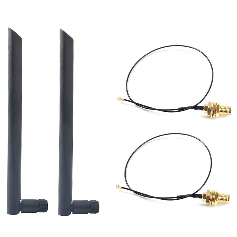 Dual Band 6Dbi Wireless WiFi Antenna RP-SMA+MHF4 Pigtail Cable for AX200 AC9260 NGFF M.2 Wireless Card WIFI/WLAN Modules