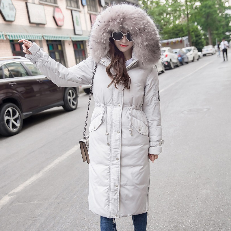 White 90% Duck Down Jacket Women Korean Hooded Down Coat Puffer Jacket Winter Coat Women Chaqueta Mujer YY1373