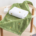 100% baumwolle Frauen/Männer Dick Gesicht & Bad Handtuch Weich und Bequem für Erwachsene Strand Wasser Saugfähigen Handtuch 35*75cm Weiß Grün