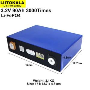 Image 2 - Liitokala 3.2v 90AhバッテリーパックLiFePO4 12v 24v 3C 270Aリチウム鉄phospha 90000 2600mahバイク電動車モーター電池