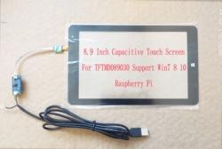 8.9 Polegada usb tela de toque capacitivo para tftmd089030 2 k 2560*1600 suporte win7 8 10 android raspberry pi