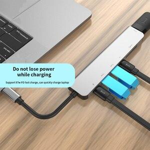 Image 5 - 7 in einem TYPE C Docking Station PD USB Hub Multi Oberfläche Carbon Laptop HDMI high speed port für Lenovo Samsung dock Macbook Pro