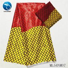 купить LIULANZHI Prints Fabric Soft Imitated Silk Wax Prints Ankara Fabric Polyester Material 4 yards + 2 yards chiffon ML54NM070-21 по цене 1940.34 рублей