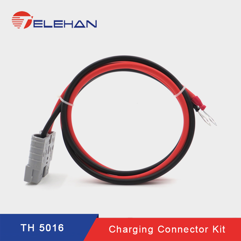 TELEHAN  Anderson To Cable Lug 600V 50A DC Connector Set, Anderson Plug Kits, Battery Terminal Kit, Solar Connector Set