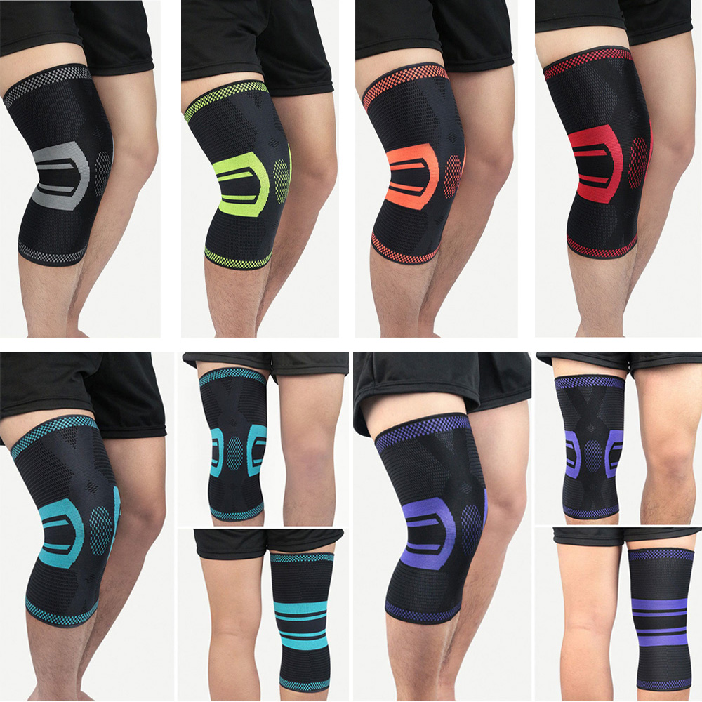 Sports Elastic Knee Pads Brace Knee Protection Support Fitness Training Running