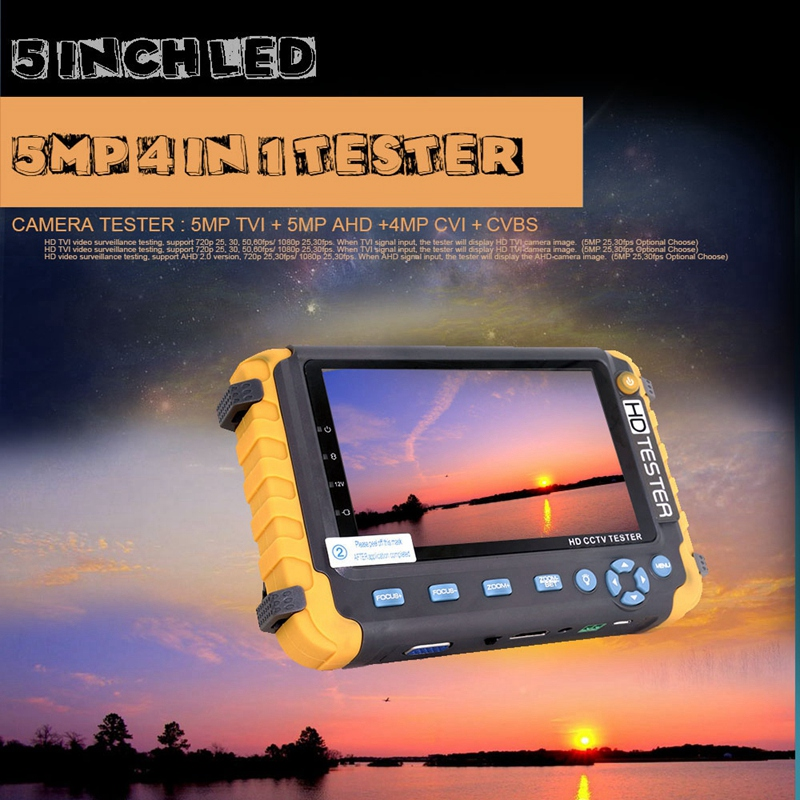 5 дюймов Tft Lcd Hd 5Mp Tvi Ahd Cvi Cvbs аналоговая камера безопасности тестер монитор в одном Cctv тестер Vga Hdmi вход Iv8W - 5