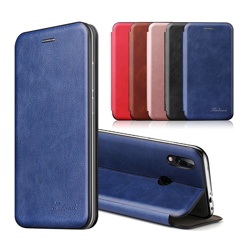 Leather Flip Magnetic Case For Xiaomi Redmi note 8t 8a 9 8 pro 9s 7 7a 5 plus a2