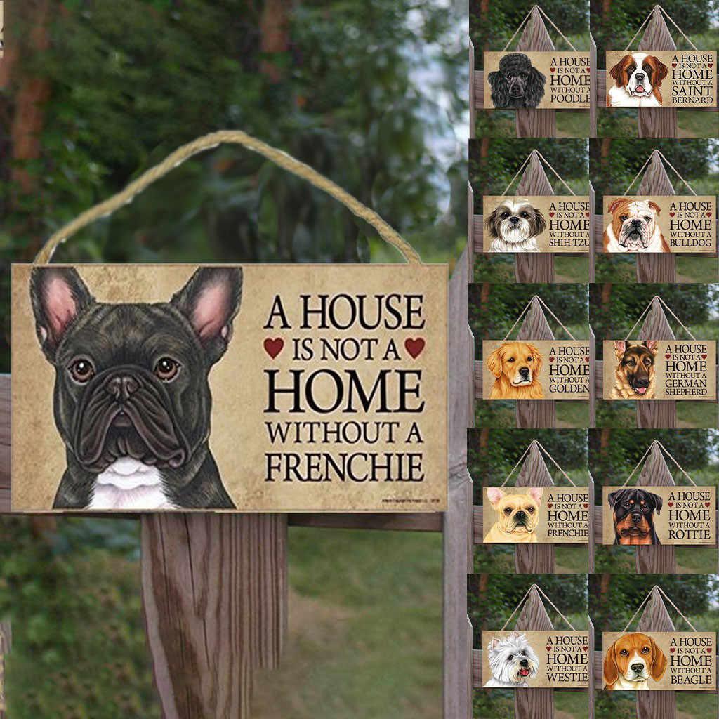 Di legno Pet Dog Stampa Segni di Legno Artigianato In Legno Appeso Ornamento Casa Porte E Finestre A Parete Albero Decorazione Ciondolo Appeso Golden retriever