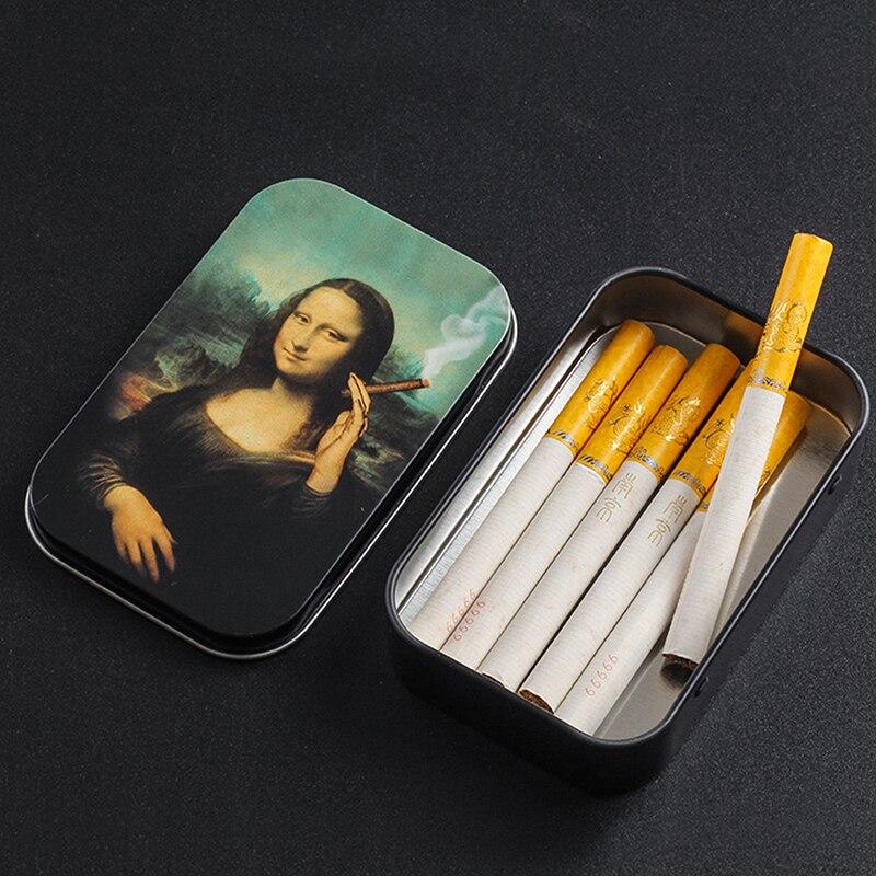 Fashion Tobacco Box Cigarette Box Humidor Cigarette Cigar Tobacco Rolling Paper Storage Box Case Container Smoking Accessories 3