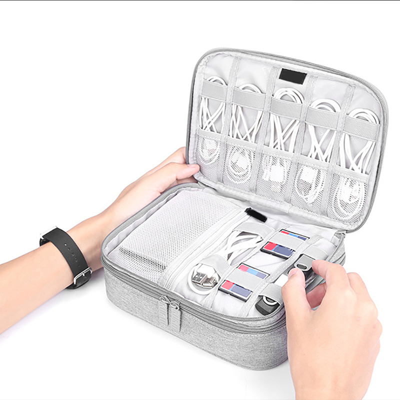 Universal External Hard Drive Case Cable Organizer Cases Electronics Accessories Bag for Hard Disk, USB Flash Drive