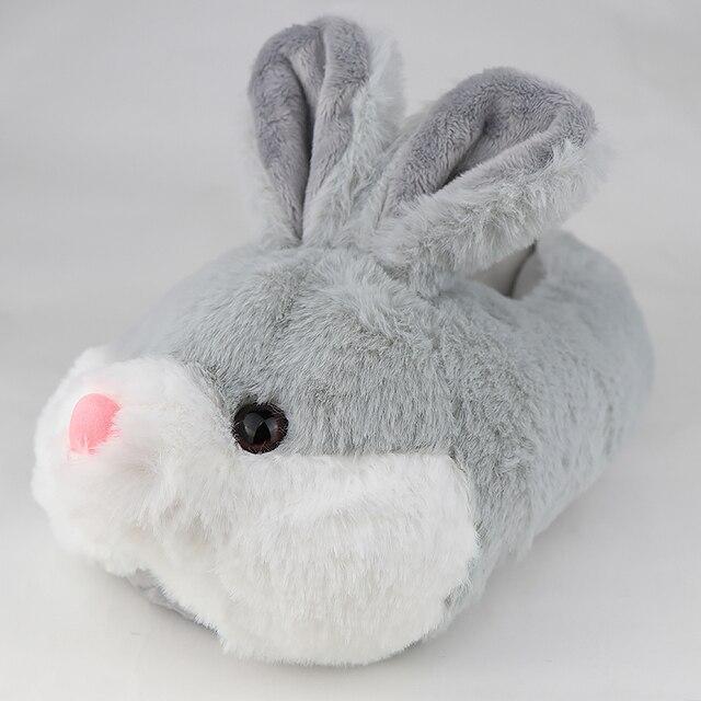 pantoufles lapin grise 2