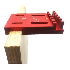 Image 3 - Aluminum Alloy Depth Measuring Ruler  w/ Scale Woodworking Line Ruler Sawtooth Ruler Marking Gap Gauge Measuring Tool