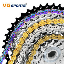 1pc VG Sports Bicycle Chain 8 9 10 11 Speed Velocidade Titanium Rainbow Gold Silver Mountain Road Bike MTB Chains Part 116 Links