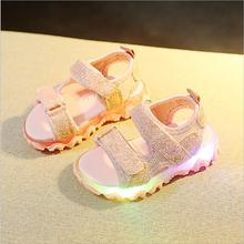 Girls Boys Sandals LED Glow Children Beach Shoes Summer Chil