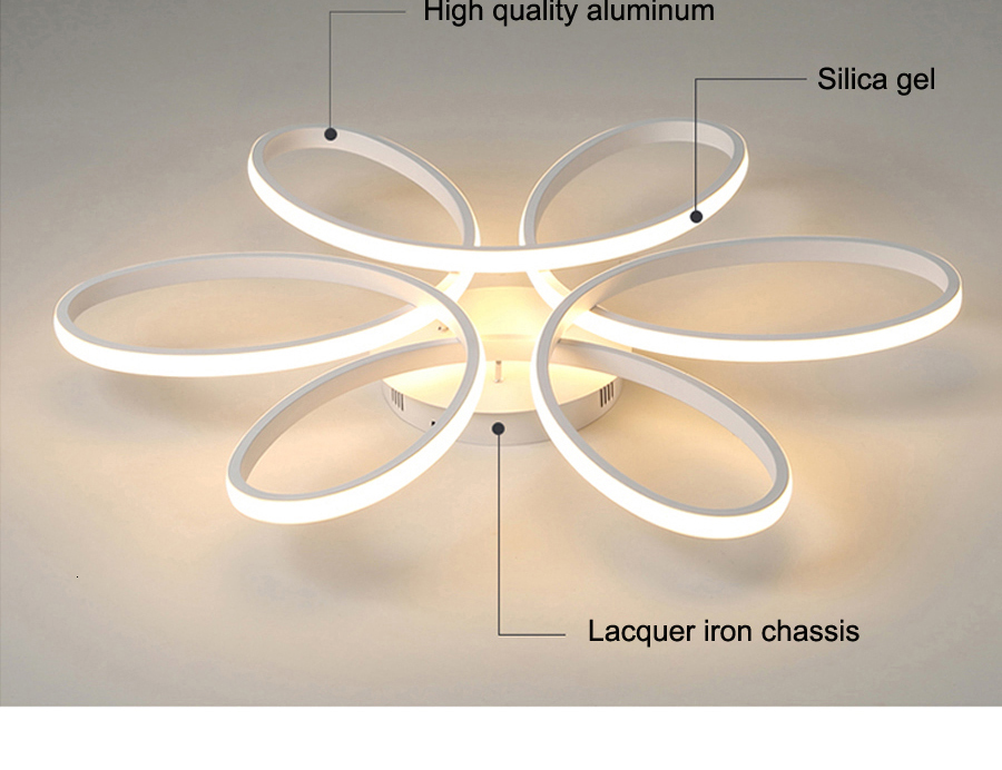 H491b2f25d78a4fc580f1ba8596bc7623m Modern LED Ceiling Lights Remote control for Living room Bedroom 78W 72W 90W 120W Aluminum boby indoor plafond Lamp flush mount