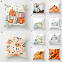 Halloween Pillow Case Linen Sofa Pumpkin Ghosts Cushion Cover Home Decoration Pillowcases Housse De Coussin Throw