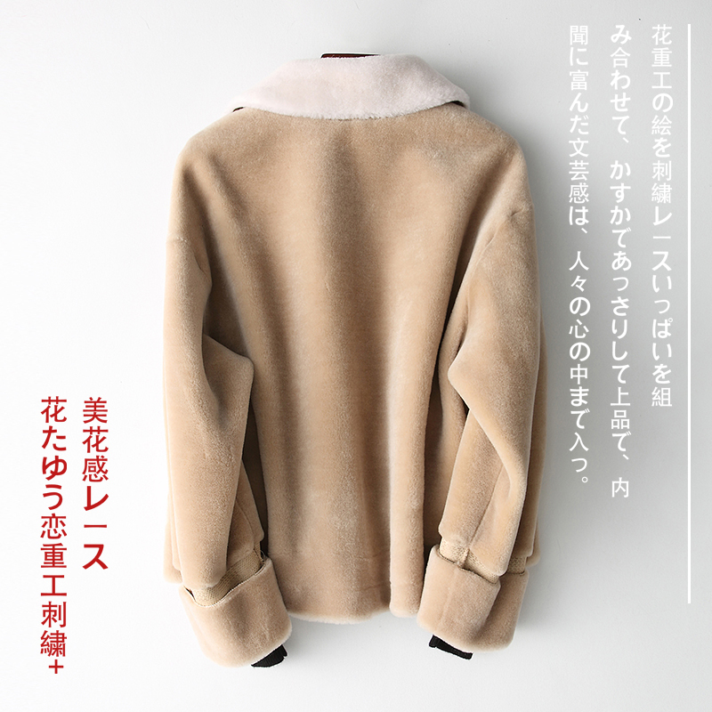Shearing Sheep Real Fur Coat Women Fashion 100% Wool Fur Coats And Jackets Women Short Winter Abrigo Mujer 2020 TLR1815 S