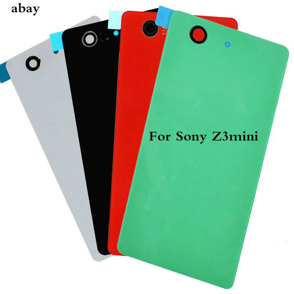 For Sony Xperia Z3 Compact Mini M55w Glass Battery Back Housing Z3 Mini D5803 D5833 Rear Glass Housing Back Cover