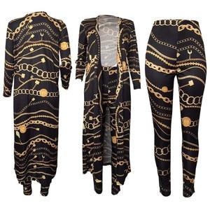 Image 4 - 秋のパンツ + コート 2 個セット女性服 4XLプラスサイズropa mujer vetementファムスーツロング女性トラックスーツ原宿