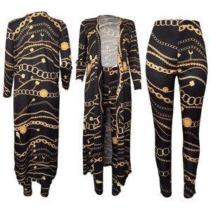 Image 4 - Autumn Pants + Coat 2 Piece Set Woman Clothes 4XL Plus Size Ropa Mujer Vetement Femme Suit Long Jacket Women Tracksuit Harajuku