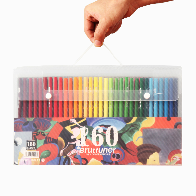 Brutfuner 120/160 Colors Professional Oil Color Pencils Set Artist Painting Sketching Wood Color Pencil School Art Supplies image